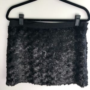 Elizabeth and James Black Textured Mini Skirt